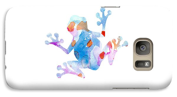 Watercolor Frog Galaxy S7 Case by Nursery Art