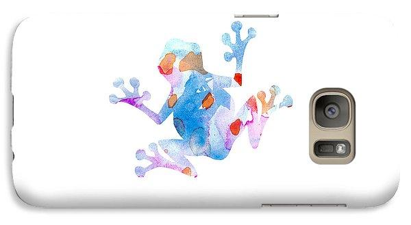 Watercolor Frog Galaxy Case by Nursery Art
