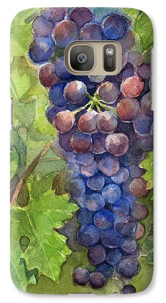 Watercolor Grapes Painting Galaxy S7 Case