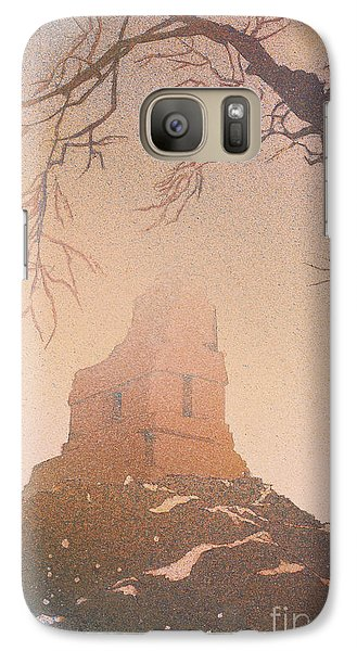 Galaxy Case featuring the painting Watercolor Painting Of Mayan Temple- Tikal, Guatemala by Ryan Fox