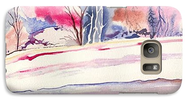Galaxy Case featuring the painting Watercolor River by Darren Cannell