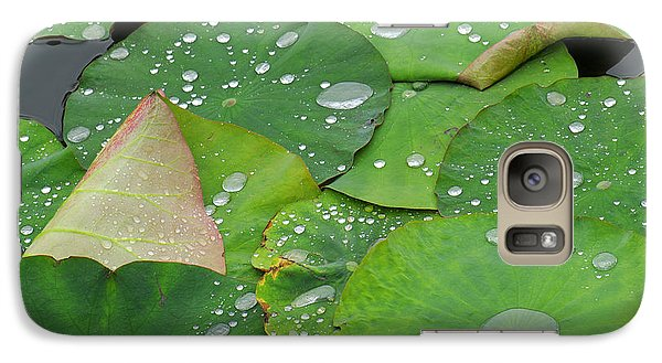 Lily Galaxy S7 Case - Waterdrops On Lotus Leaves by Silke Magino