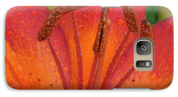 Galaxy Case featuring the photograph Watered Lily by Jean Noren