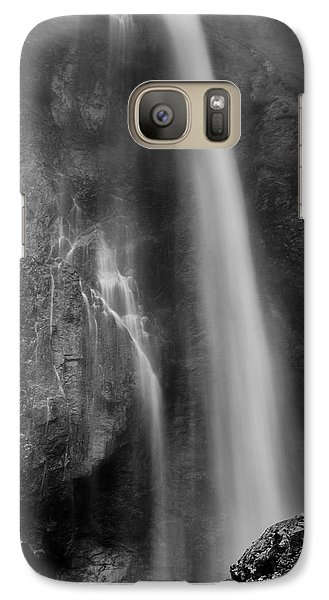 Galaxy Case featuring the photograph Waterfall 5830 B/w by Chris McKenna