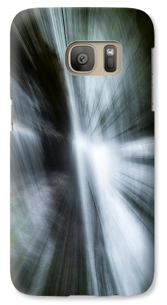 Galaxy Case featuring the photograph Waterfall Abstract by Chris McKenna