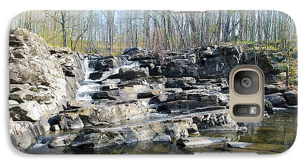 Galaxy Case featuring the photograph Waterfall At Wickecheoke Creek by Bill Cannon