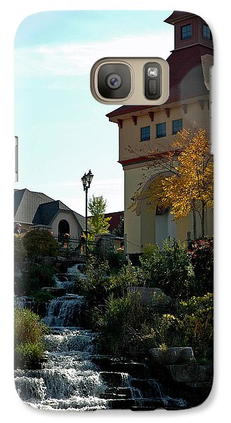 Galaxy Case featuring the photograph Waterfall Frankenmuth Mich by LeeAnn McLaneGoetz McLaneGoetzStudioLLCcom