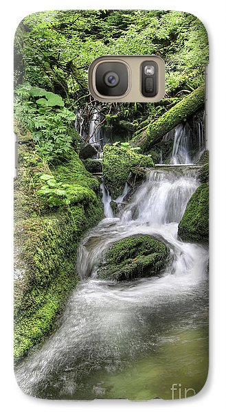 Galaxy Case featuring the photograph Waterfalls And Rapids On The White Opava Stream by Michal Boubin