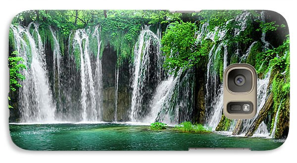 Waterfalls Panorama - Plitvice Lakes National Park Croatia Galaxy S7 Case