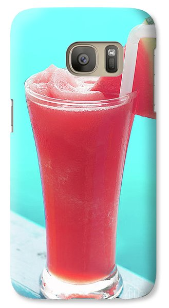 Galaxy Case featuring the photograph Waterlemon Smoothie by Atiketta Sangasaeng