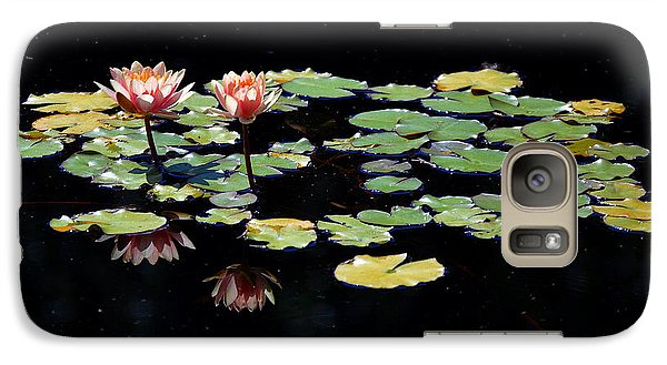 Galaxy Case featuring the painting Waterlily Panorama by Marilyn Smith