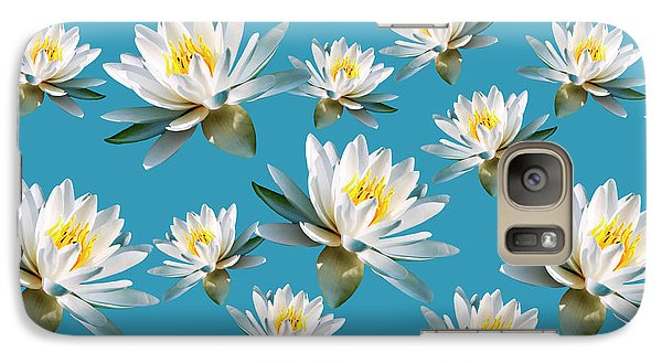 Galaxy S7 Case featuring the mixed media Waterlily Pattern by Christina Rollo