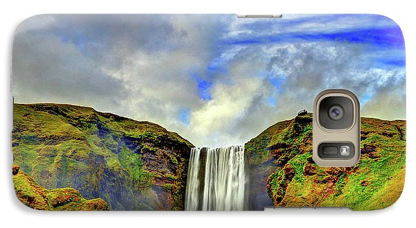 Galaxy Case featuring the photograph Watermall And Mist by Scott Mahon
