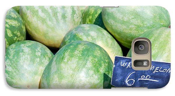 Watermelons With A Price Sign Galaxy S7 Case by Paul Velgos