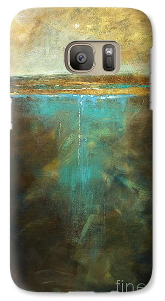 Galaxy Case featuring the painting Water's Edge In The Moonlight by Linda Olsen