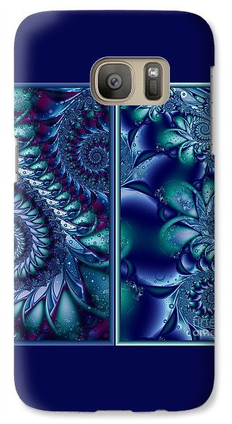 Galaxy Case featuring the digital art Waters Of The Caribbean by Michelle H