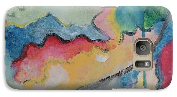 Galaxy Case featuring the digital art Watery Abstract by Susan Stone