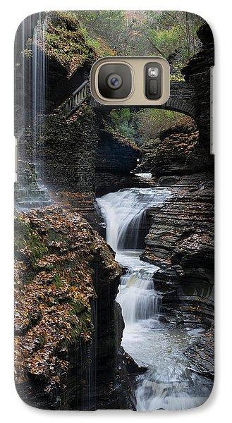 Galaxy Case featuring the photograph Watkins Glen Rainbow Falls by Joshua House