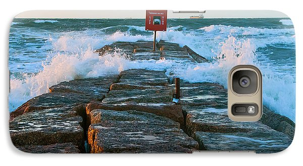 Galaxy Case featuring the photograph Wave Action by John Collins