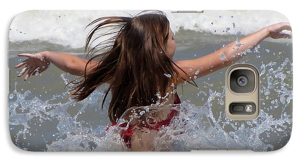 Galaxy Case featuring the photograph Wave Splash by Maciek Froncisz