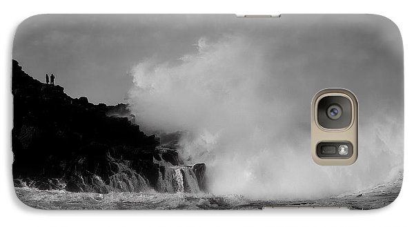 Galaxy Case featuring the photograph Wave Watching by Roy McPeak
