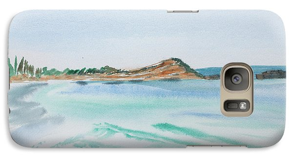 Waves Arriving Ashore In A Tasmanian East Coast Bay Galaxy S7 Case