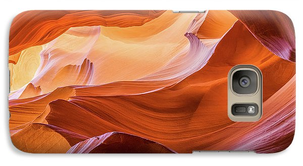 Galaxy Case featuring the photograph Waves Of Stone by Carl Amoth