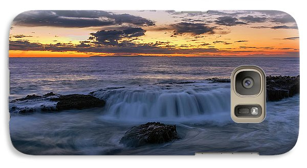 Galaxy Case featuring the photograph Wave Over The Rocks by Eddie Yerkish