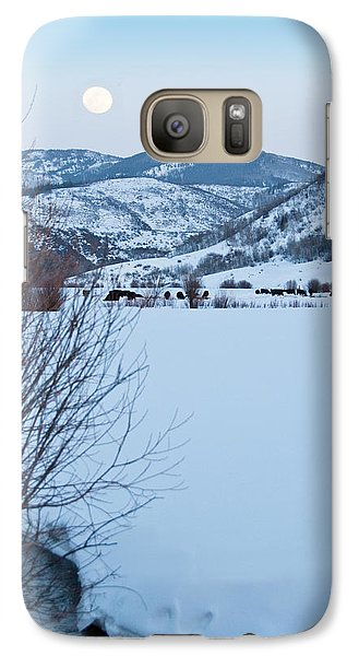 Galaxy Case featuring the photograph Waxing Super Moon Over Salt Crk by Daniel Hebard