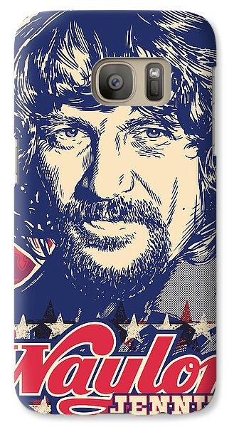 Johnny Cash Galaxy S7 Case - Waylon Jennings Pop Art by Jim Zahniser