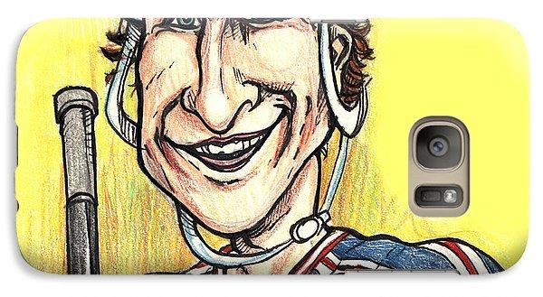 Galaxy Case featuring the drawing Wayne Gretsky Caricature by John Ashton Golden
