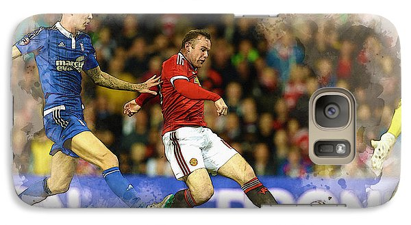 Wayne Rooney Of Manchester United Scores Galaxy S7 Case
