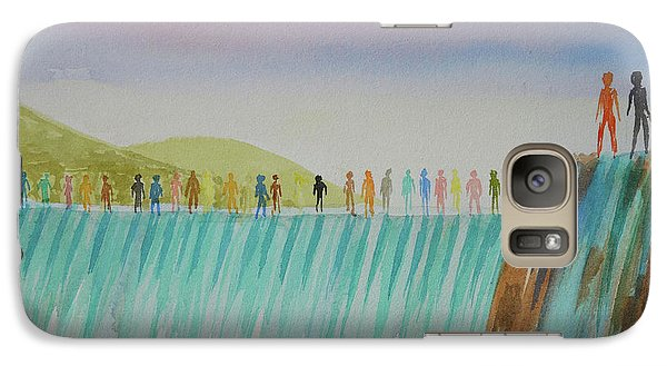 Galaxy Case featuring the painting We Are All The Same 1.1 by Tim Mullaney