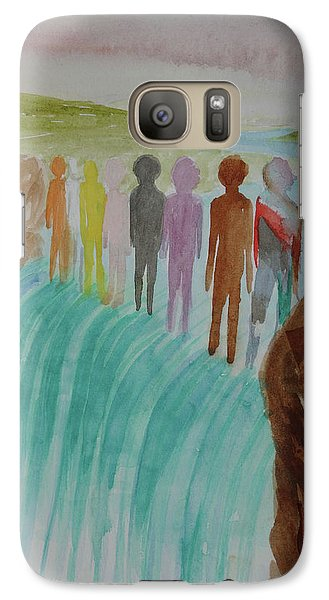 Galaxy Case featuring the painting We Are All The Same 1.2 by Tim Mullaney