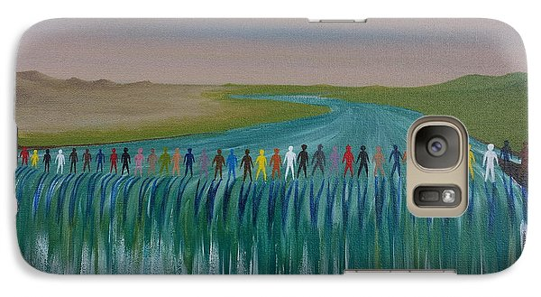 Galaxy Case featuring the painting We Are All The Same 1.3 by Tim Mullaney