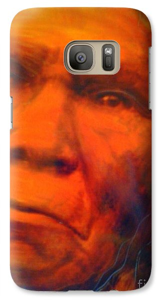 Galaxy Case featuring the painting We Are First Nation by FeatherStone Studio Julie A Miller