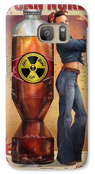 Galaxy Case featuring the digital art We Can Nuke It by Steve Goad