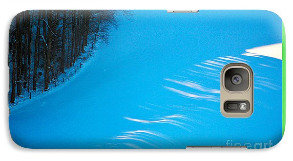 Galaxy Case featuring the photograph We Got The Blues - Winter In Switzerland by Susanne Van Hulst
