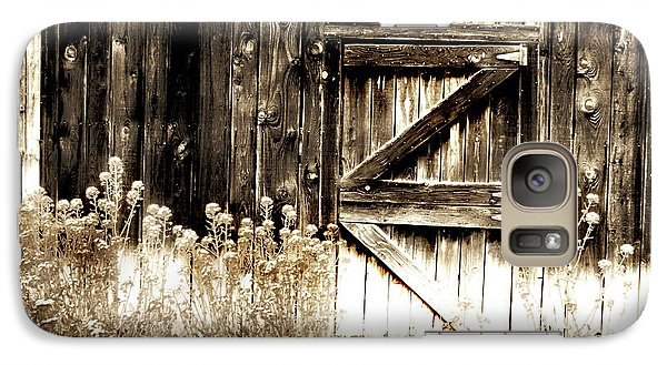 Galaxy Case featuring the photograph Weathered Barn Door by Gray  Artus