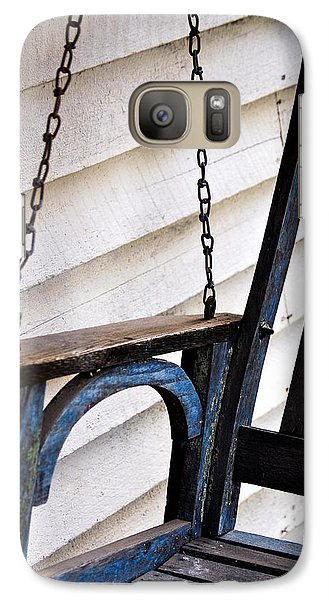 Galaxy Case featuring the photograph Weathered Porch Swing by Debbie Karnes