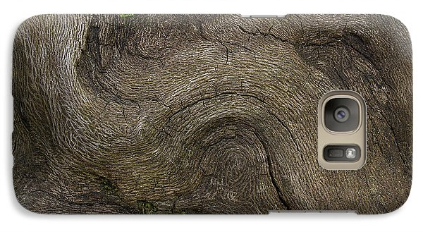 Galaxy Case featuring the photograph Weathered Tree Root by Mike Eingle