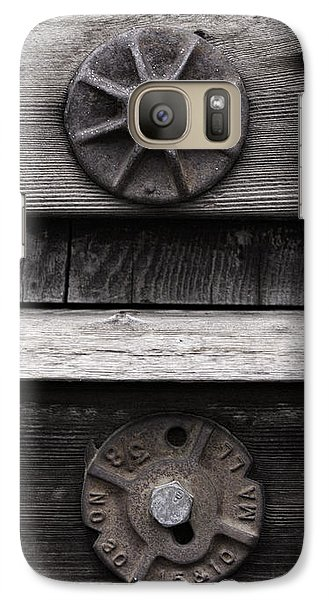 Galaxy Case featuring the photograph Weathered Wood And Metal Five by Kandy Hurley