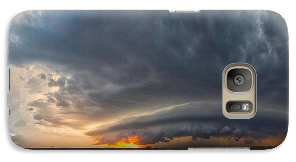 Galaxy Case featuring the photograph Weatherford Oklahoma Sunset Supercell by James Menzies
