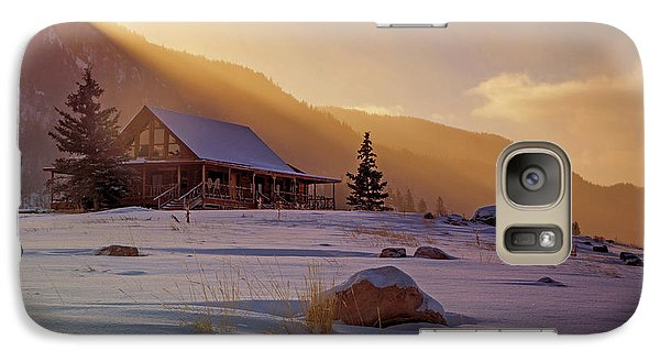 Galaxy Case featuring the photograph Weber Canyon Cabin Sunrise. by Johnny Adolphson