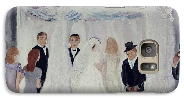 Galaxy Case featuring the painting Wedding Day by Aleezah Selinger