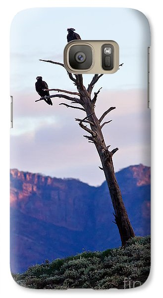 Galaxy Case featuring the photograph Wedge Tail Eagles by Bill  Robinson