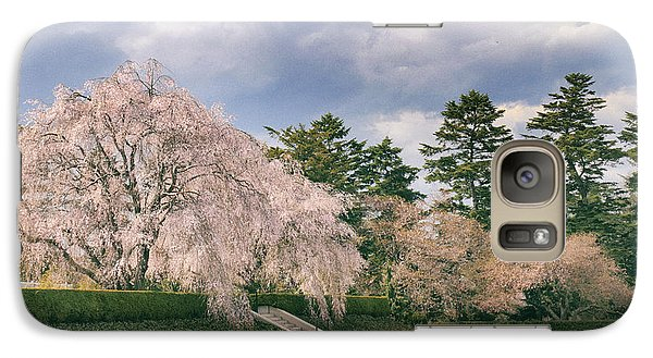 Galaxy Case featuring the photograph Weeping Cherry In Bloom by Jessica Jenney