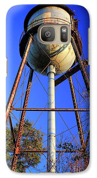 Galaxy Case featuring the photograph Weighty Water Cotton Mill  Water Tower Art by Reid Callaway