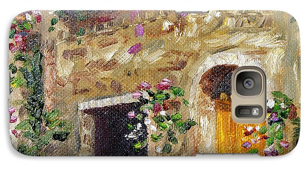 Galaxy Case featuring the painting Welcome Home by Jennifer Beaudet