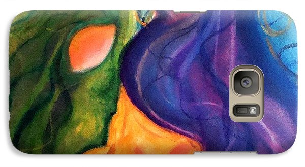 Galaxy Case featuring the painting Welcome Home by Laura  Grisham